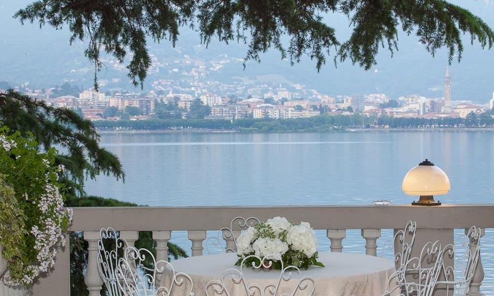 Al Terrazzo restaurant overlooking Lecco Lake Como