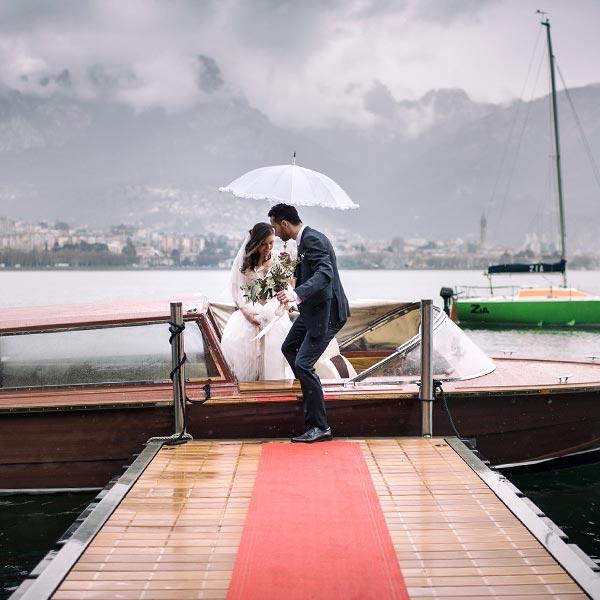 Matrimonio Villa Giulia - Servizio barca esclusivo