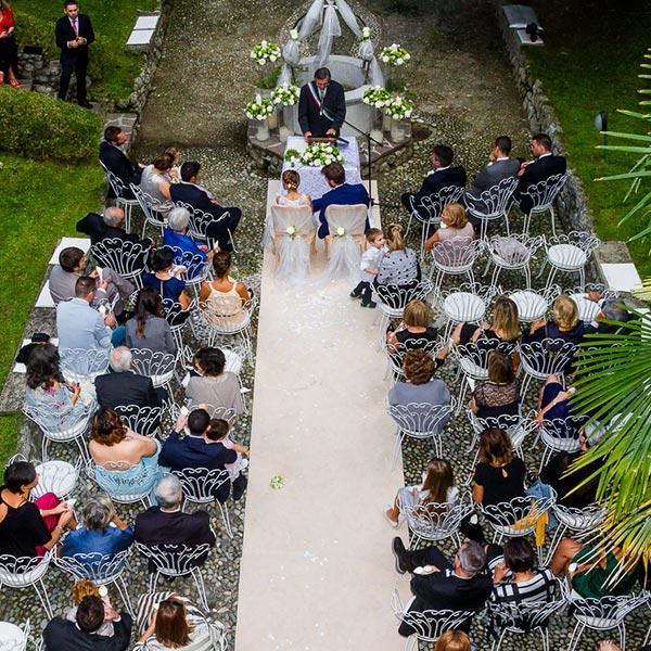 Matrimonio Villa Giulia Lago di Como - Cerimonia in giardino